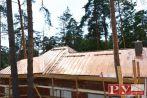М.О. 'Раздоры' монтаж медной кровли с несущими конструкциями, 1300 кв.м.