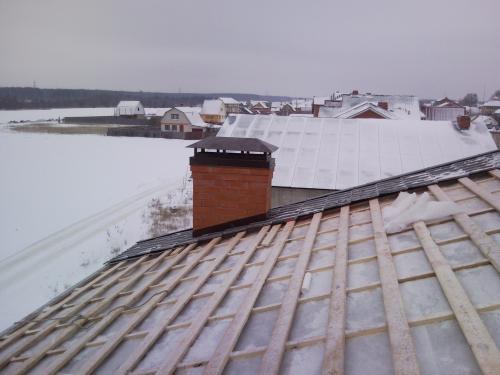 Монтаж крыши зимой