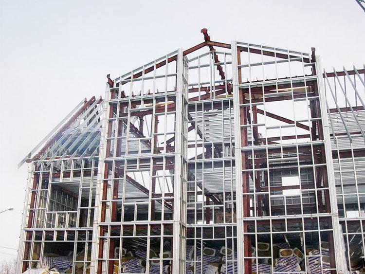 Монтаж несущих конструкций из термопрофиля