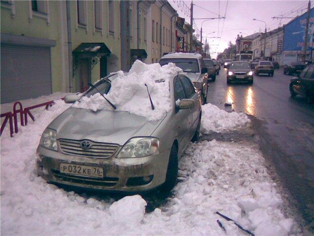 Монтаж системы снегозадержания